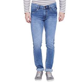 Stylox Men's Premium Light Blue Mid Rise Cleans Look Stretchable Jeans-DNM-LB-4079, 28