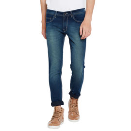 Stylox Men's Premium Stretchable Slim Fit Mid Rise Light Shaded Jeans-DNM-GRNTNT-4068, 32