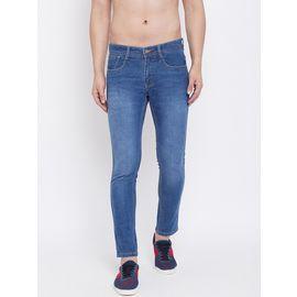Stylox Men Slim Fit Stretchable Blue Jeans 5104-1295, 36
