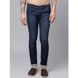 Stylox Men Blue Stretchable Slim Fit Casual Wear Washed Jeans-DNM-BLW-4114-01, 28