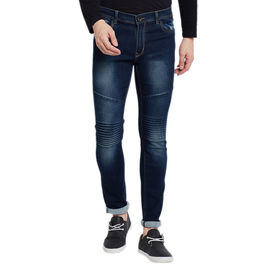 Stylox Men's Premium Stretchable Slim Fit Mid Rise Light Shaded Jeans-DNM-DB-4066, 34