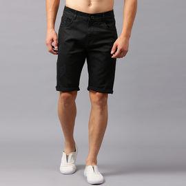 Stylox Men Black Shorts-SHORT-DMGBLK-4140-09, 34