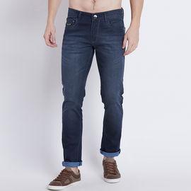 Stylox Men Slim Fit Stretchable Mid Rise Blue Jeans-5009-01, 30