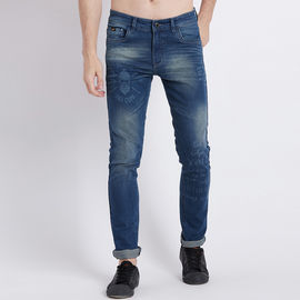 Stylox Men Slim Fit Mid Rise Blue Whisker Jeans-4151-01, 30