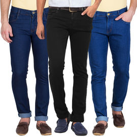 Stylox Set of 3 Slim Fit Denim Jeans, 32