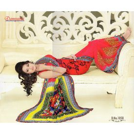 Printed Designer Fancy Saree -s045damyakok