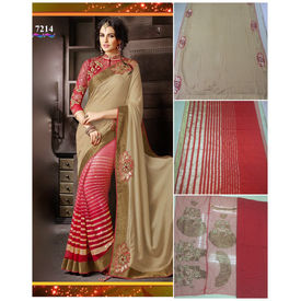 Elegant Designer Saree with Stone Sequence and Heavy work on Pallu