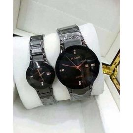Imported RADO Jublie DaiStar Full Black Couple Watch