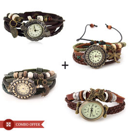 Combo of 4 Vintage Designer Analog Bracelet Watches - Women