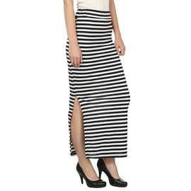Designer Black and White Strip Skirt