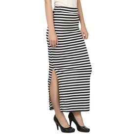 Designer Black and White Strip Skirt
