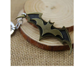 Batman Dual-Bat Metallic Keychain