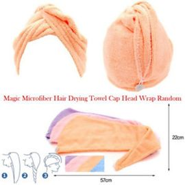 2 pcs MAGIC HAIR-DRYING TOWEL/ CAP/WOMEN HAIR WRAP FOR BATH & SHOWER