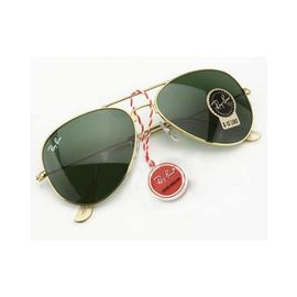 RayBan Aviator Golden Green Stylish Sunglasses