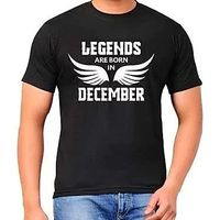 Legends are born in December round neck High Quality BIO WASH Tshirt - Best birthday gift, s