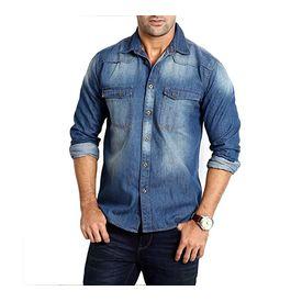 Export Surplus Branded Denim Shirt, xl