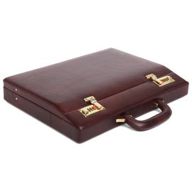 WildHorn 100% Genuine Leather Premium Briefcase Attache Bag| Office| Meeting (WHBRF001)