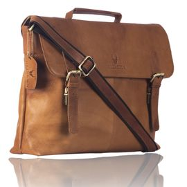 WildHorn Tan Crunch 100% Genuine Leather Laptop Messenger Bag