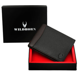 WILDHORN NEW BLACK HIGH QUALITY GENUINE MEN' S LEATHER WALLET… 213