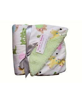 Soft Warm Baby Blanket - Light Green