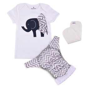Bdiapers Diaper Cover+ T-shirt Set with 1 Insert, Jumbo