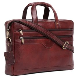WildHorn 100% Genuine Leather Laptop Messenger Bag
