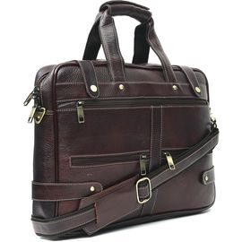 WildHorn 100% Genuine Leather (16inch) Laptop Messenger Bag DIMENSION: L- 16.5inch H- 12inch W- 3inch