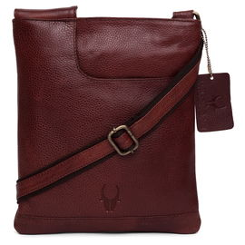 WildHorn New Bombay Brown Hi-Quality 100% Genuine Leather Messenger Bag DIMENSION: L- 8inch H- 10.5inch W- 0.5inch
