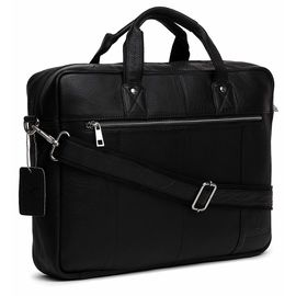 WildHorn Leather Laptop Messenger Bag, 16 x 3 x 12 Inches(Black)