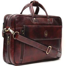 WildHorn 100% Genuine Leather (15.5inch) Laptop Messenger Bag DIMENSION: L- 15.5inch H- 12inch W- 3inch