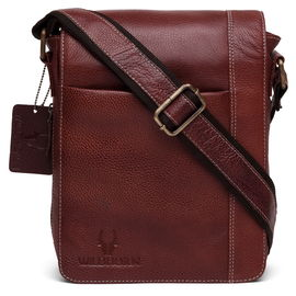 WildHorn New Bombay Brown Hi-Quality 100% Genuine Leather Messenger Bag DIMENSION: L- 8.5inch H- 10.5inch W- 3inch