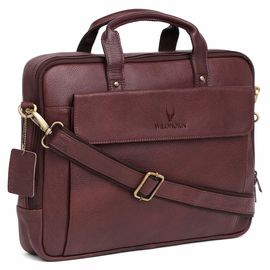 WildHorn Leather 16-inch Brown Laptop Bag