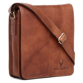 WildHorn New Hi-Quality 100% Genuine Leather Sling Messenger Bag DIMENTION: L-8INCH W-3INCH H-9INCH