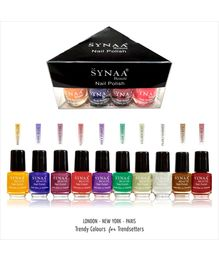 Synaa Nail Polish Set of 10 Pieces - Multicolor Set# 2 (240g)