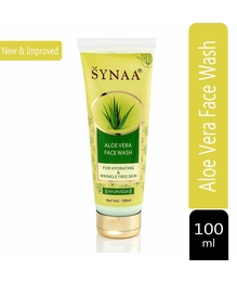 SYNAA Aloe Vera Face Wash Gel for Wrinkle Free Hydrated Skin - Purifying Aloe Vera Ayurvedic Face Wash - 100 ML