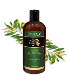 Synaa Olive Shampoo For Clean Hair and Healthy Scalp - Women and Men 400ml