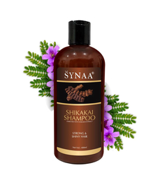 Synaa Shikakai Shampoo For Strong and Shiny Hair - Nourishment and Root Strengthening Shampoo - 400 ml