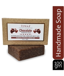 Synaa Chocolate Handmade Soap for Complete Skin Care, Enriched with Chocolate (100g)
