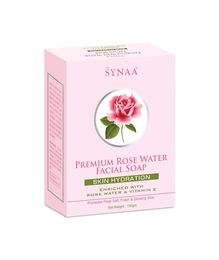Synaa Rose Water Soap - Premium Skin Hydration Soap (150g)