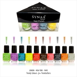 Synaa Nail Polish Set of 10 Pieces - Multicolor Set# 1 (240g)