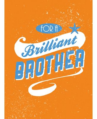 For A Brilliant Brother Hb (Nr