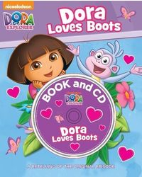 Dora loves boots book & cd