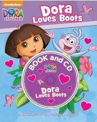 Dora loves boots book & cd