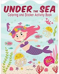 Under The Sea- Coloring And Sticker Activity Book
