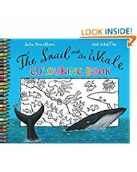 Snail and whale coloring book