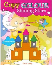 Copy colour shining stars