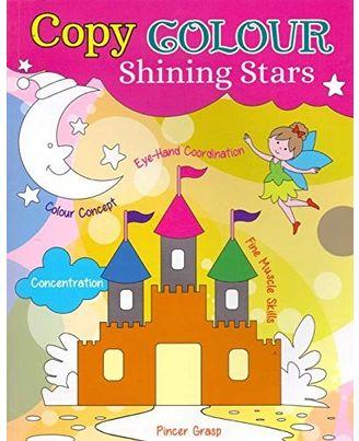 Copy colour shining stars