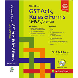 GST Acts, Rules & Forms With Referencer, 3E