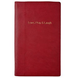 Love Pray Laugh Notebook, maori,  fuschia