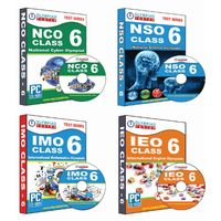 Class 6- NSO NCO IEO IMO Combo CD- pack+ Subscription for GLOWSOT & GLOWMOT